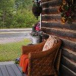 A wonderful porch in a quaint lodge