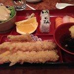 Tempura shrimp lunch bento