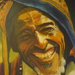 Smiley Old Man Painting