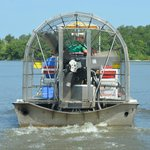 back end of an airboat
