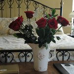 Roses in the room when we arrived