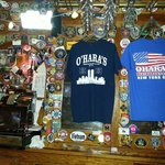 T-shirts available at O'Hara's and patches from all over