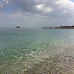 Preciosas aguas cristalinas. Playa privada del hotel.