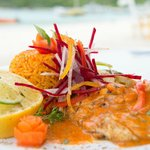 Snapper in Passionfruit Creole Sauce