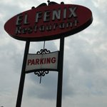 El Fenix sign by the road