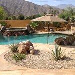Backyard with beautiful views of the Santa Rosa Mountains