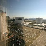 View from my East Tower room, encompassing Excalibur, MGM, Tropicana hotels