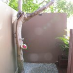 Our private outdoor shower
