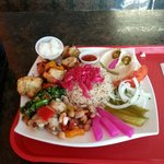Delicious Plate of Chicken and Beef Kabob !!!!