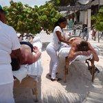 $20 massage on Mahahual Beach, Mahahual, Mexico