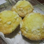 signature lemon crumb muffins made with 100% nature ingredients