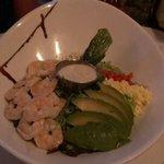 Shrimp Cobb salad. Look at all that fresh shrimp!