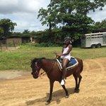 My baby riding