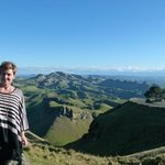 me at the top of Te Mata peak
