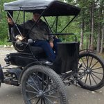 I got a courtesy ride in a 1913 Duryea by a neighbor who stopped by