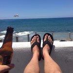Sun and local brew