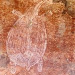 One of many pieces of ancient Aboriginal rock art