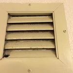 Mold/mildew on bathroom fan vent