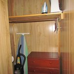 Cabin 8 - small walk-in closet upstairs