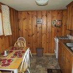 Cabin 8's cozy little kitchen