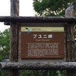 プユニ岬の看板