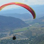 over Glenwood Springs
