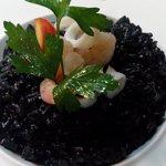 Cuttlefish juice rice