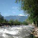 Beas river next to the resort