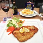 Schnitzel and Frites on the Patio