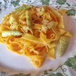 Tagliatelle with asparagus