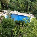 Vue piscine de l'hôtel