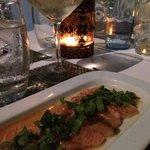 Nikei Salmon on the terrace