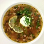 Solyanka Rich Meat and Sausages Soup