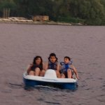 Que rico paseo por el lago Ontario en el bote de pedales que el hotel proporciona gratuitamente!