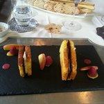 brioche au foie gras chaud