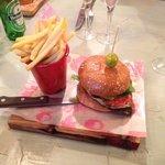 the chicken and chorizo burger