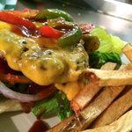 Farm fresh peppers, Melted Cheddar & Whiskey Sauce