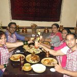 With my family awesome memories and food !