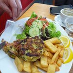 the mussel fritters - YUM!