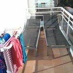 Balcony: lounge chairs