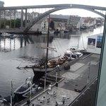 Utsikt over Smedasundet fra hotellet