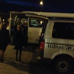 Hilton night bus arrives - but won't be taking guests