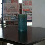 See the flower vase was old and dirty ...in lobby. ....