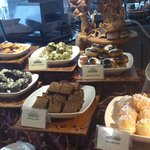 Breakfast buffet Cakes and Pastries