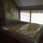 lovely big bath and shower
