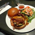 Wagyu burger with cheddar and bacon at Teresa's Next Door.