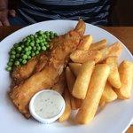 Fish and chips at the harrow