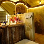 Beautiful re-designed en suite bathrooms in Luxury Tented Cottages
