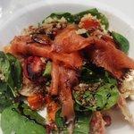 A tasty Salmon Quinoa salad