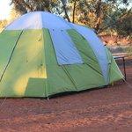 camping in dirt